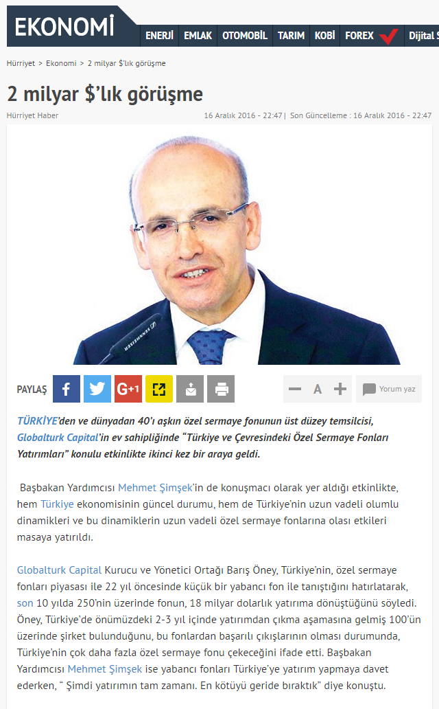 2 Billion Dollars of Private Equity Funds to Be Invested | Hurriyet.com.tr