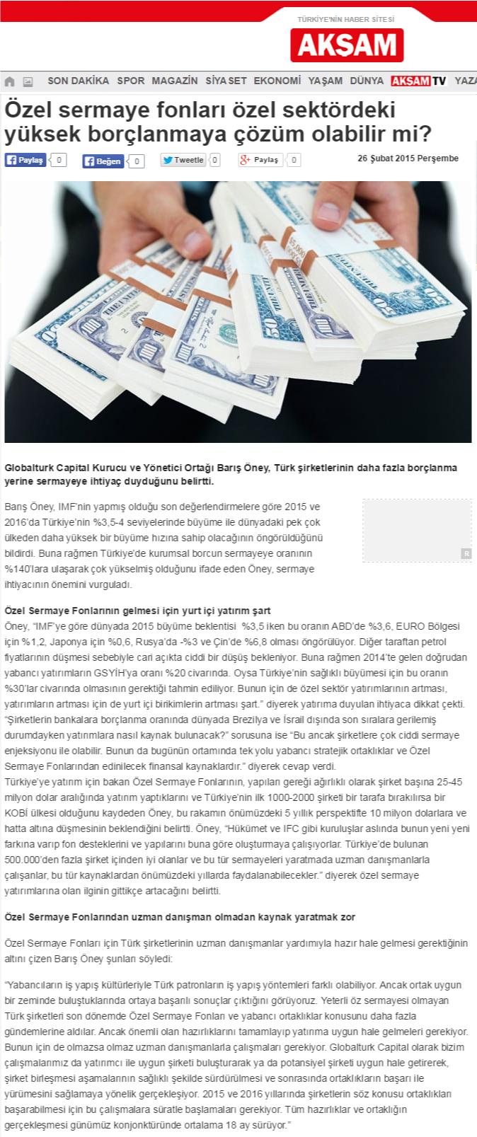 Özel Sermaye Fonları Özel Sektördeki Yüksek Borçlanmaya Çözüm Olabilir mi? | Akşam