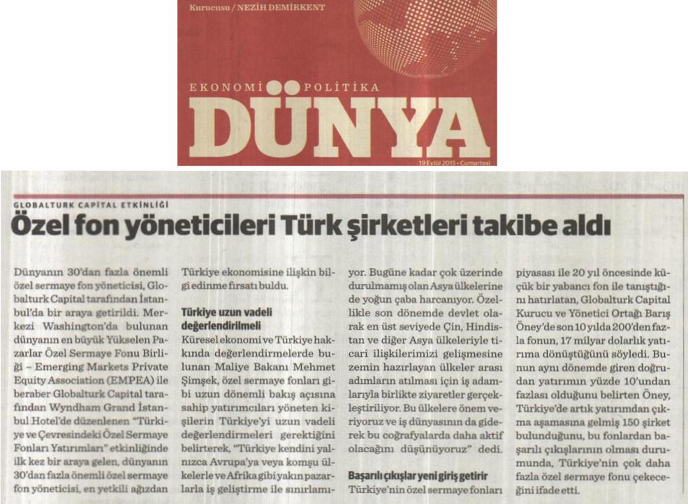 Özel Fon Yöneticileri Türk Şirketleri Takibe Aldı | Dünya