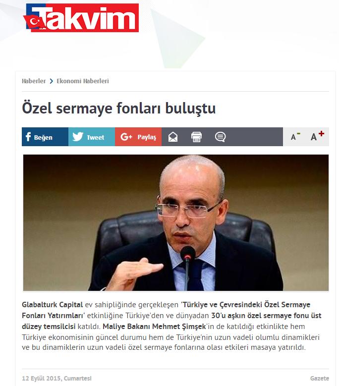 Özel Sermaye Fonları Buluştu | Takvim.com.tr