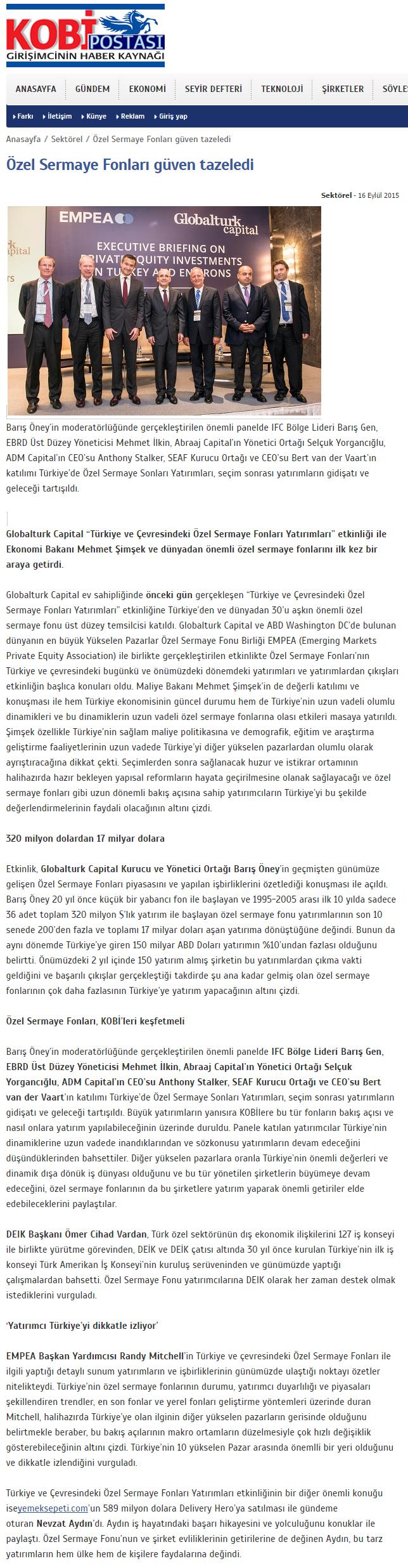 Özel Sermaye Fonları Güven Tazeledi | Kobipostasi.net