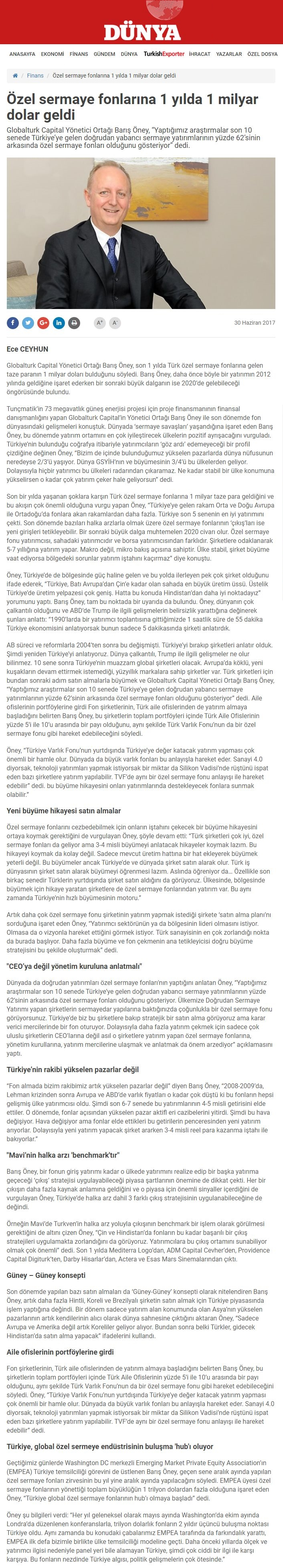 Özel Sermaye Fonlarına 1 Yılda 1 Milyar Dolar Geldi | Dunya.com