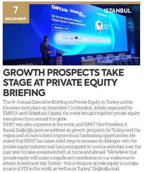 Özel Sermaye Fonları Toplantısında Büyüme Beklentileri Konuşuldu | T.C. Başbakanlık Türkiye Yatırım Destek ve Tanıtım Ajansı / TYDTA Bülten - Sayı 47, Ocak 2018